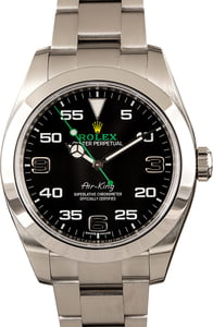 Rolex Mens Air-King 116900 Black Dial