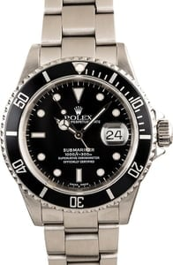 Rolex Submariner 16610 Black Luminous Dial