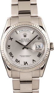 Used Rolex Day Date 118239 White Gold