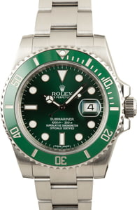 Used Rolex Submariner 116610LV Green Ceramic Bezel