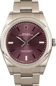 Rolex Oyster Perpetual 39MM 114300 Red Grape