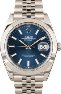Pre-Owned 41MM Rolex Datejust 126300 Blue Dial