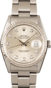Men's Rolex Oyster Perpetual DateJust Steel 16234