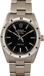 Used Rolex Air-King 14010 Black Index Dial