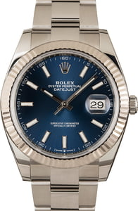 Pre Owned Rolex Datejust II Ref 126334 Blue Luminous Dial