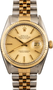 Rolex Datejust 16233 Two Tone with Fluted Bezel