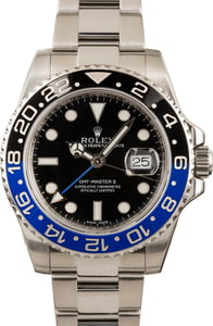 PreOwned Rolex GMT-Master II Ref 116710 'Batman' Dial