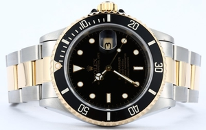Rolex Submariner Steel & Gold 16613 Black Dial