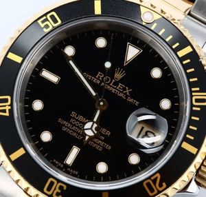 Rolex Submariner Two Tone 16613 Black Bezel
