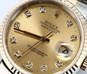 Rolex Datejust 16233 Diamond Dial Champagne
