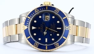 Rolex Blue Submariner 16613 Two Tone