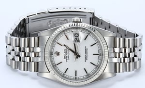 Rolex Datejust White Dial 16234