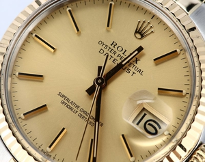 Rolex Datejust Two Tone 16013 Champagne Dial