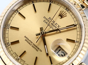 Rolex Datejust 16233 Champagne Index Dial