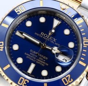 Rolex Mens Submariner Blue 116613 - Certified Pre-Owned