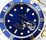 Rolex Blue Submariner 16613 No Holes Case