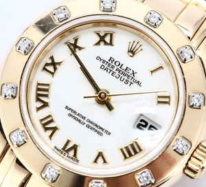 Ladies Rolex Datejust 69173 Roman Dial 100% Authentic