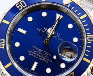 Rolex Submariner 16613 Blue 100% Authentic