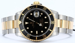 Rolex Submariner 16613 Black 100% Authentic
