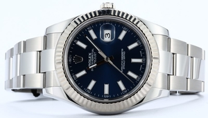Rolex Datejust 116334 Blue Index Dial