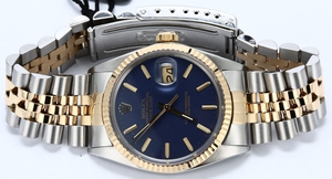 Rolex Datejust 16013 Blue Dial Certified Pre-Owned