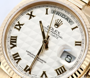Rolex President Day-Date 18038 Roman 100% Authentic