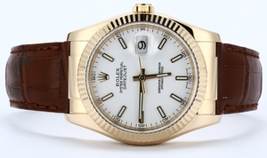 Rolex Datejust 116138 Leather 100% Authentic