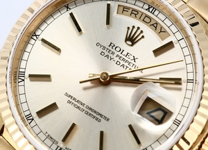 Rolex President Day-Date 18078 Bark Accents