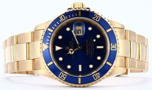 Rolex Submariner 16618 18K Blue