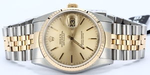 Rolex Datejust Two Tone 16233 Tapestry Dial
