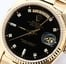 Rolex President 18038 Black Diamond Dial