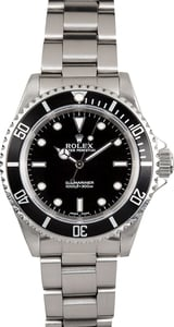 Black Rolex Submariner No Date Model 14060