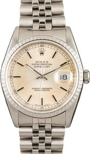 DateJust Rolex 16220 Engine Turned Bezel