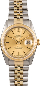 Pre Owned Rolex Men's Two-Tone Datejust 16233 Jubilee