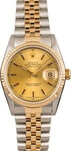 Pre-Owned Rolex Datejust 16233 Two Tone Jubilee Model