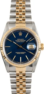 Datejust 16233 Rolex Blue Dial