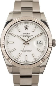 Pre-Owned Rolex 126334 Datejust 41 White Dial