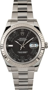 Datejust II Rolex 116334 Black Roman 100% Authentic