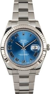 Datejust II Rolex 116334 Blue Roman 100% Authentic