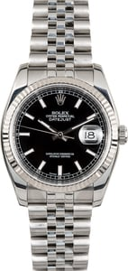 Datejust Rolex 116234 Black Index Dial