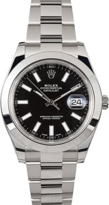 Men's Rolex Datejust II 116300BKSO Black Dial