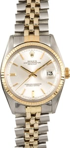 Datejust Rolex 1601 Silver Pie-Pan Dial