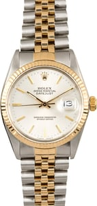 Datejust Rolex 16013 Silver Dial