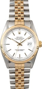 Datejust Rolex 16013 White Dial