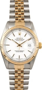 Datejust Rolex 16013 White Index