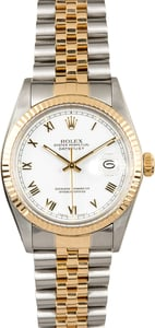 Datejust Rolex 16013 White Roman