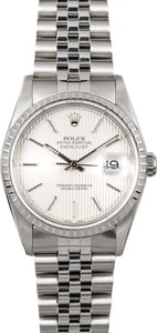 Datejust Rolex 16220 Silver Tapestry