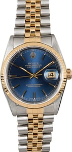 Datejust Rolex 16233 Blue Dial