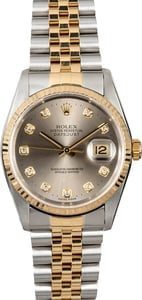 Datejust Rolex 16233 Slate Diamond Dial