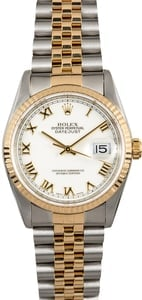 Datejust Rolex 16233 White Roman